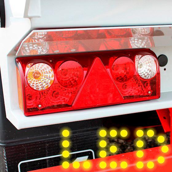 Fremragende LED 3 kammer og 7 kammer baglygter til lastbiltrailere Kelberg EX59